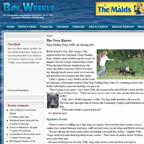 Bay Weekly - The Nose Knows
